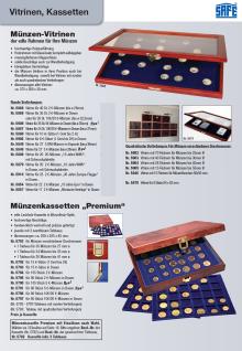 SAFE 5909 Holz Münzvitrinen Vitrinen 35 Fächer bis 35 mm Deutsche Für 5 DM Gedenkmünzen in Münzkapseln 29 - Vorschau 2