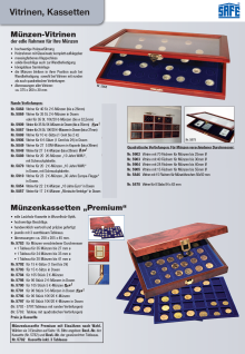 SAFE 5909 Holz Münzvitrinen Vitrinen 35 Fächer bis 35 mm Österreich Für 5 Euro Gedenkmünzen in Münzkapseln 29 - Vorschau 2