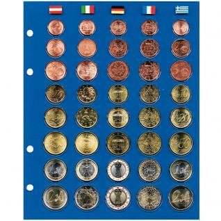 5 x SAFE 7858 TOPset Münzblätter Ergänzungsblätter Münzhüllen für 5 x Euromünzen KMS Kursmünzensätze 1 Cent bis 2 Euromünzen - Vorschau 2