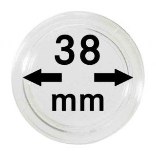 5 LINDNER Münzkapseln / Münzenkapseln Capsules Caps 38 mm 2250038P