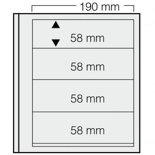 1 x SAFE 614 dual Blankoblätter Einsteckblätter Ergänzungsblätter mit je 4 Taschen 190 x 58 mm Für Briefmarken - Banknoten - Briefe - Postkarten