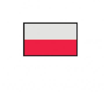 1 x SAFE 1175 SIGNETTE Flagge Polen - Poland - Polonia Aufkleber Kennzeichnungshilfe - selbstklebend