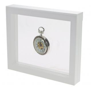 SAFE 4516 SCHWEBE RAHMEN FOTORAHMEN BILDERRAHMEN 3D Weiss 180 x 180 mm Für Taschenuhren