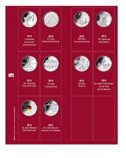 SAFE 7344-2 Premium Münzblätter 7392 mit Vordruckblättern Deutsche 20 Euro Münzen Gedenkmünzen 2018 - 2018
