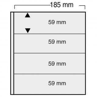 1 x SAFE 861 Ergänzungsblätter Variant + schwarzen ZWL mit 4 Taschen 185 x 59 mm