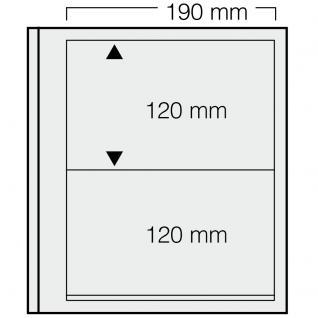 1 x SAFE 612 dual Blankoblätter Einsteckblätter Ergänzungsblätter mit je 2 Taschen 190 x 120 mm Für Briefmarken - Banknoten - Briefe - Postkarten