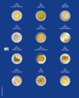 1 x SAFE 7302-8 TOPset Münzblätter Ergänzungsblätter Münzhüllen mit farbigem Vordruckblatt für 2 Euromünzen Gedenkmünzen in Münzkapseln 26 - 2010 - 2011