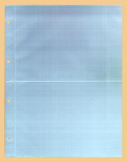 100 x KOBRA G52E Ergänzungsblätter DIN A4 2 Taschen 216x150mm Für A5 Einsteckkarten Briefe Banknoten