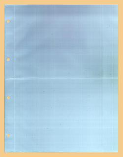 5 x KOBRA G52E Ergänzungsblätter DIN A4 2 Taschen 216x150mm Für A5 Einsteckkarten Briefe Banknoten