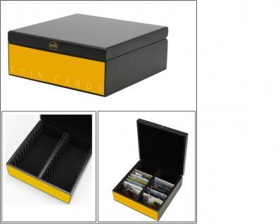 SAFE 794 Schwarz - Gelbe - Matte Holz - Münzbox Magazin für 48 x Coin-Cards Coincards