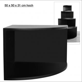 """SAFE 5356 Deko Präsentations Eck-Boards """" Syno Schwarz """" XL - ExtraLarge L 50 x H 50 x T 33 cm - Für alle Ihre Schätze von A - Z"""