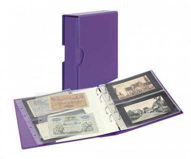 LINDNER S3542BN-13 Viola - Lila Banknotenalbum PUBLICA M COLOR + Kassette + 10 Banknotenblätter Mixed 2er / 3er Teilung