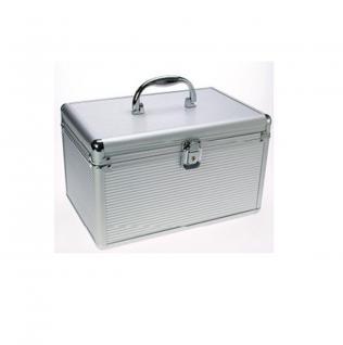 """SAFE 225 ALU Koffer """" CD L Silver Star"""" Für 50 CD's DVD's Blue Ray Datenträger in deren eigenen Hüllen - Vorschau 2"""