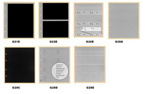 10 x KOBRA G21E Ersatzblätter Ergänzungsblätter glasklar + schwarzem Einlegeblättern 1 Tasche 180 x 240 mm - Vorschau 2