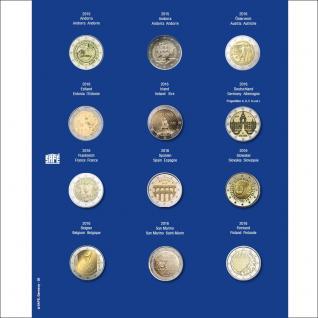 1 x SAFE 7302-20 TOPset Münzblätter Ergänzungsblätter Münzhüllen mit farbigem Vordruckblatt für 2 Euromünzen Gedenkmünzen in Münzkapseln 26 - 2015 - 2016
