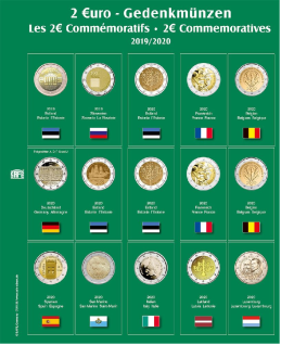 SAFE 7341-25 Premium Münzblätter 7393 mit Vordruckblättern 2 Euro Münzen Gedenkmünzen 2019-2020