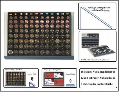 SAFE 6440 Stapelelemente Münzboxen mit blauer Einlage mit 80 eckigen Fächern für 10x komplette Euro Kursmünzensätze KMS von 1, 2, 5, 10, 20, 50 Cent & 1, 2 Euromünzen