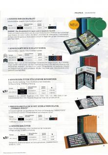 Lindner 1151-H Briefmarkenalbum Einsteckbücher Einsteckbuch Royal Hell Braun 40 schwarze Seiten - Vorschau 4