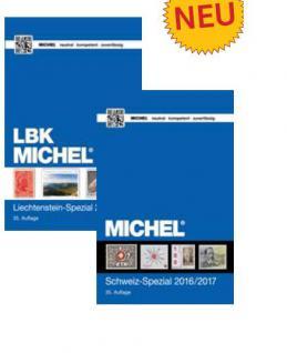 Michel Briefmarken Katalog Set: Schweiz Spezial mit LBK Liechtenstein Spezial 2016 / 2017