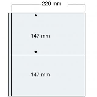 10 SAFE 464 Compact A4 Banknotenhüllen Hüllen Spezialblätter DIN A4 2 Taschen 220 x 147 mm Für Banknoten Geldscheine Papiergeld Notgeldscheine - Vorschau 1