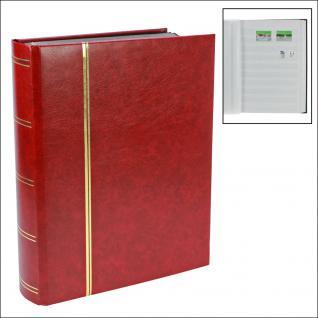 SAFE 150-1 Briefmarken Einsteckbücher Einsteckbuch Einsteckalbum Einsteckalben Album Weinrot - Rot wattiert 64 weissen Seiten