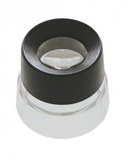 LINDNER S66 Standlupe mit 10 facher Vergrößerung Linse 25 mm