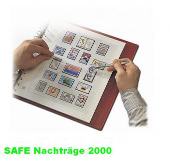 SAFE 1600 dual Nachträge - Nachtrag / Vordrucke Frankreich - France Jahresschmuckblätter - 2000