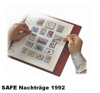SAFE 1692 dual Nachträge - Nachtrag / Vordrucke Deutschland Jahresschmuckblätter - 1992