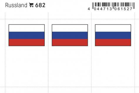 6 x LINDNER 682 Russland Flaggensticker Flaggen Signetten Sets zum aufkleben oder einstecken