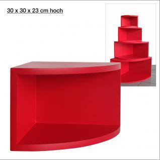 """SAFE 5347 Deko Präsentations Eck-Boards """" Syno Rot """" M - Medium L 30 x H 30 x T 23 cm - Für alle Ihre Schätze von A - Z"""