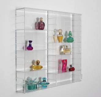 SAFE 5210 ACRYLGLAS Sammel Vitrinen Universal XL Modul A Maße 50 x 50 x 10 cm + 2 x 4 Zwischenböden - Für Flacons Parfum