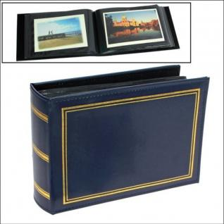 SAFE 4140 Ansichtskartenalbum Postkartenalbum Blau Standard Innenmaße 195 x 130 mm Für 100 Ansichtskarten Postkarten Briefe