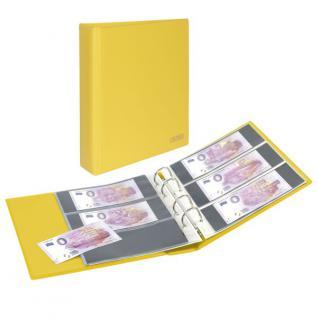 LINDNER S3540BT-9 Solino Gelb Banknotenalbum PUBLICA M COLOR Billets Touristiques + 10 Blätter MU3103 - Ideal für 0-Euro Banknoten Geldscheine - Vorschau 1