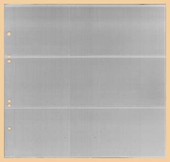 1 x KOBRA G43E Ergänzungsblätter - Ersatzblätter 3 Taschen glasklar 245 x 77 mm Für Banknoten - Liebigbilder - Reklamebilder Sammelbilder