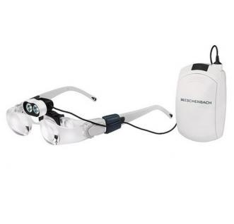 ESCHENBACH 162451 Lupenbrille MAX Detail 2 fache 3 Dpt + Eschenbach 16042 Headlight LED Beleuchtung