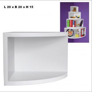 """SAFE 5340 Deko Präsentations Eck-Boards """" Syno Weiss """" S - Small L 20 x H 20 x T 15 cm - Für alle Ihre Schätze von A - Z"""