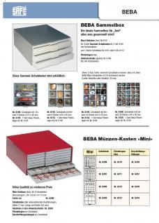 SAFE 6610-4 BEBA MÜNZBOXEN 100 quadratische Fächer 26, 5 mm + blaue Filzeinlagen Für 12 komplette Euro Kursmünzensätze KMS von 1 , 2, , 5 , 10 , 20 , 50 Cent & 1 , 2 Euromünzen - Vorschau 5