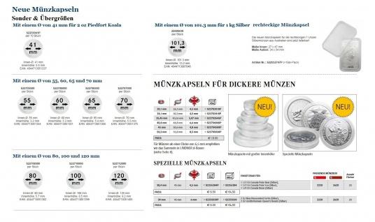 5 x LINDNER S2255384P Münzkapseln / Münzenkapseln Capsules Caps 38, 4 mm 1 1/2 Unzen Polar Bear Canada / Kanada - Vorschau 3