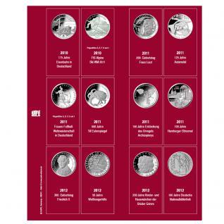 SAFE 7342-6 Premium Münzblätter Ergänzungsblätter Münzhüllen 7392 mit Vordruckblättern Deutsche 10 Euro Gedenkmünzen 2012 - 2013 - 2014