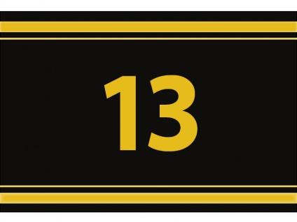 """1 x SAFE 1130 SIGNETTE Aufkleber """" 13 """" Zahlen Ziffern Bandzahlen"""