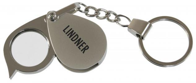 Lindner S2093 Einschlaglupe mit Schlüsselanhänger Vergrößerung 5x fach Linsendurchmesser 20 mm
