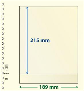 1 x LINDNER 802102 T-Blanko-Blätter Blankoblatt 18-Ring Lochung - 1 Tasche 215 x 189 mm
