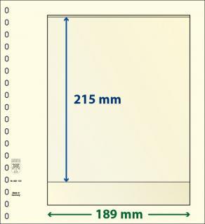 10 x LINDNER 802102P T-Blanko-Blätter Blankoblatt 18-Ring Lochung - 1 Tasche 215 x 189 mm
