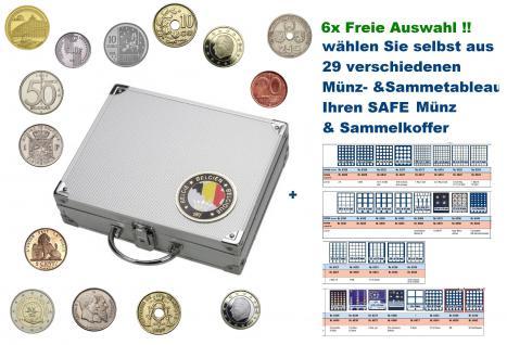 SAFE 239 ALU Länder Münzkoffer SMART Belgien / Belgieque / Belgie / Belgium 6 Tableaus FREIE AUSWAHL aus 29 verschiedenen Münzen- und Sammeltableaus