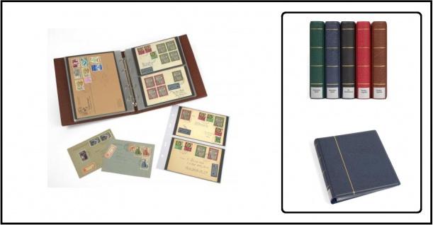 """KOBRA G24 Rot - Weinrot Universal Doppel-FDC-Album Sammelalbum """" XL """" 10 Blättern Für 40 Fotos Bilder FDC Briefe Postkarten Ansichtskarten"""