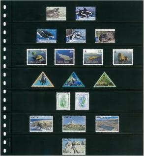 10 x LINDNER 07P Omnia Einsteckblätter schwarz 7 Streifen x 34 mm Streifenhöhe - Vorschau 3