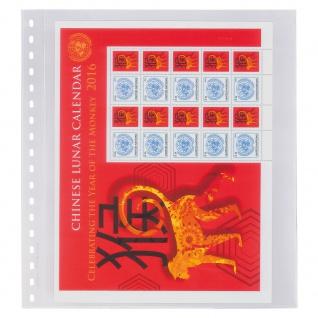 10 x LINDNER 853P Klarsichthüllen Banknotenhüllen 1 Tasche Streifen 240 x 290 mm mit schwarzen Zwischenblättern