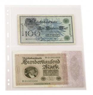 5 x LINDNER 092 UNIPLATE Blätter, glasklar 2 Streifen / Taschen 128 x 194 mm Für Gr. Belege Briefe Blocks Banknoten - Vorschau 2