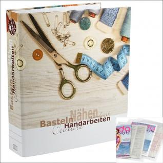 SAFE 4010 Dokumenten Ordner Familie Handarbeiten DIN A4 Ringbinder Für Bastelanleitungen - Strickmuster - Schnittbögen - Strickanleitungen