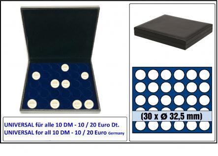SAFE 63320 NOVA deluxe Münzkassette schwarz 30x runde Fächer 32, 5 mm Ideal für 10 Mark DDR 10 DM 10 20 EURO Deutschland